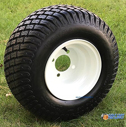 """8"""" WHITE Steel Golf Cart Wheels and 18x8.50-8"""" Turf/Street for sale  Delivered anywhere in USA"""