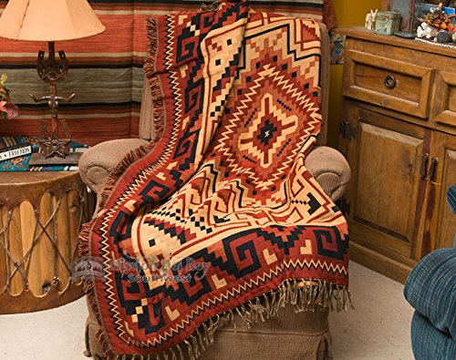 Mision Del Rey Southwestern Accent Throw 50x60 -Navajo Rust by Mision Del Rey