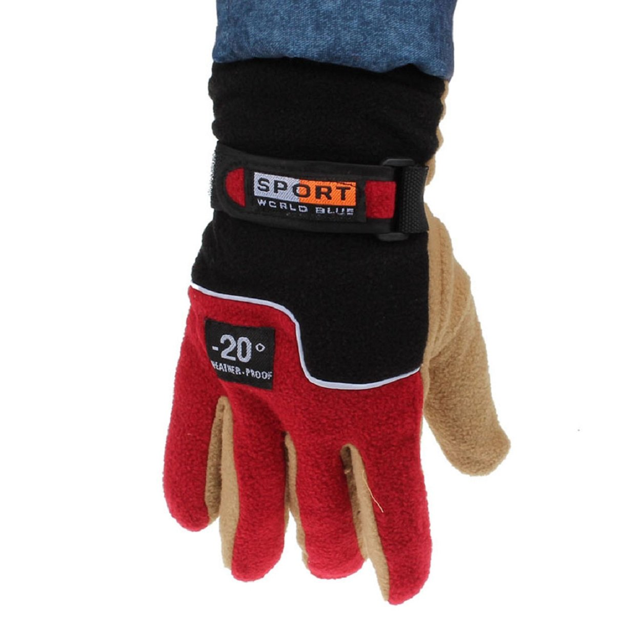 Doinshop New Arrival Windproof Men Thermal Winter Motorcycle Ski Snow Snowboard Gloves (black)