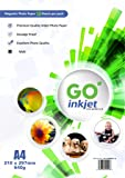 10 Sheets A4 Magnetic Photo Paper, matt white photo paper, compatible with inkjet and photo printers by GO Inkjet