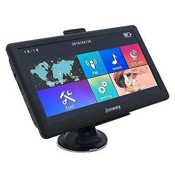 Jimwey Navegador GPS para Camión y Coche, Pantala de 7 Pulgadas, 256MB & 8GB