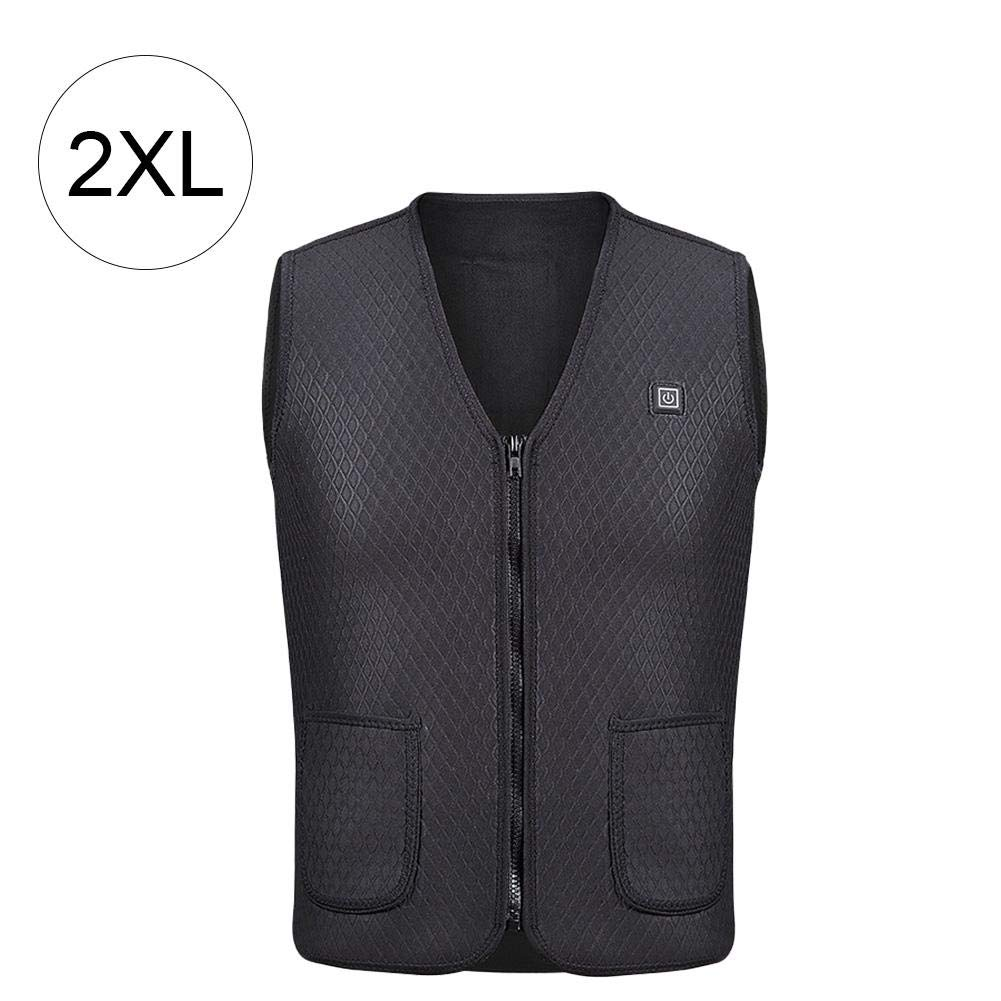 Bulary USB Charging Electric USB Heated Warm Vest Gilet Lightweight 5V 3 Heating Levels Electric Heated Vest with Indicator Light and Power Switch Waterproof Windproof