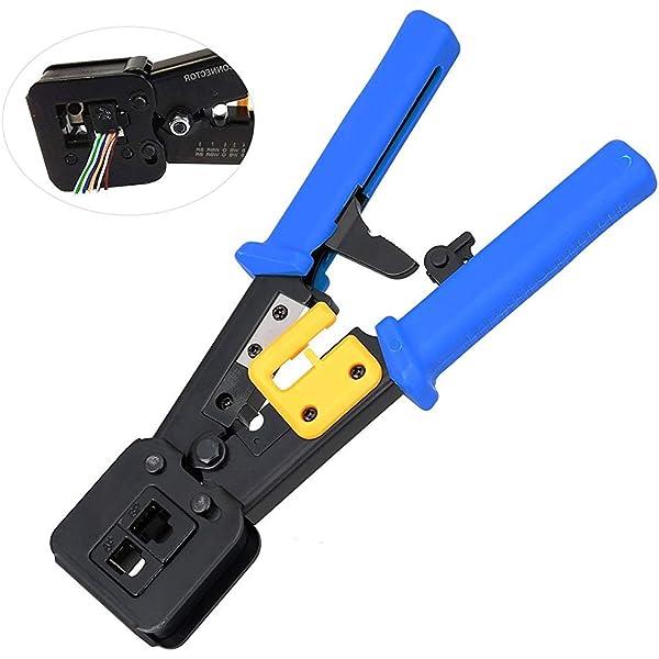 Multifunction Network Ethernet LAN RJ45 Cable Crimper Crimping P6//P8 Cutter Tool