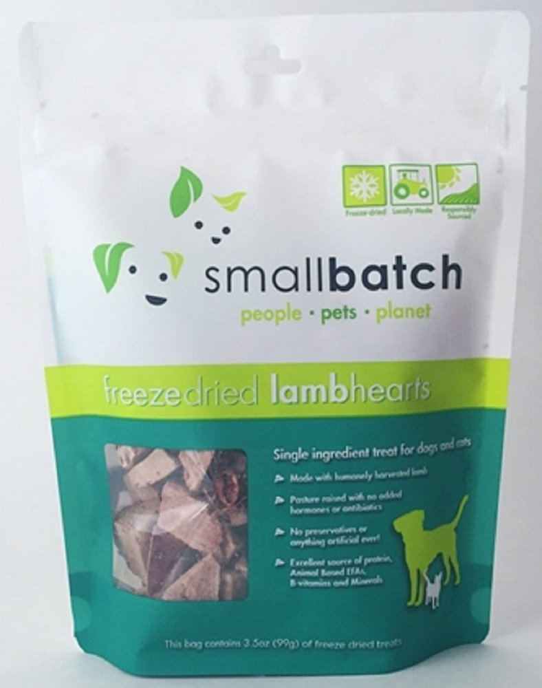 Small Batch Freeze Dried Lamb Heart Treat, 3.5 ounces