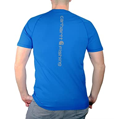 7ec9daf84 Amazon.com: Carhartt Men's 102871 Force Delmont Fishing Graphic  Short-Sleeve T-Shi: Clothing