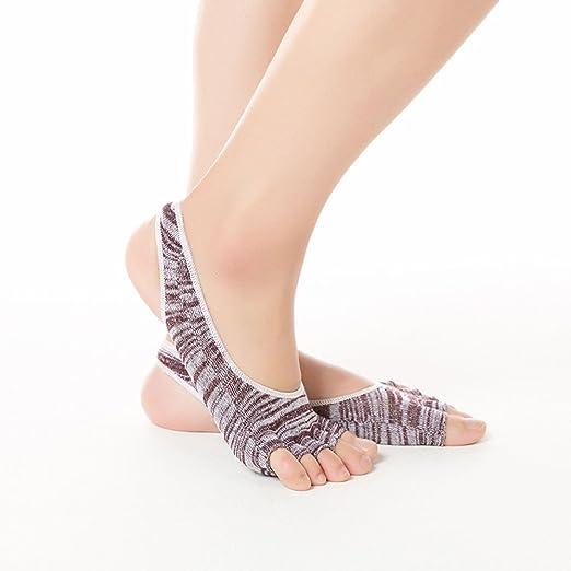 Uiophjkl Calcetines de Yoga Antideslizantes. El calcetín de ...
