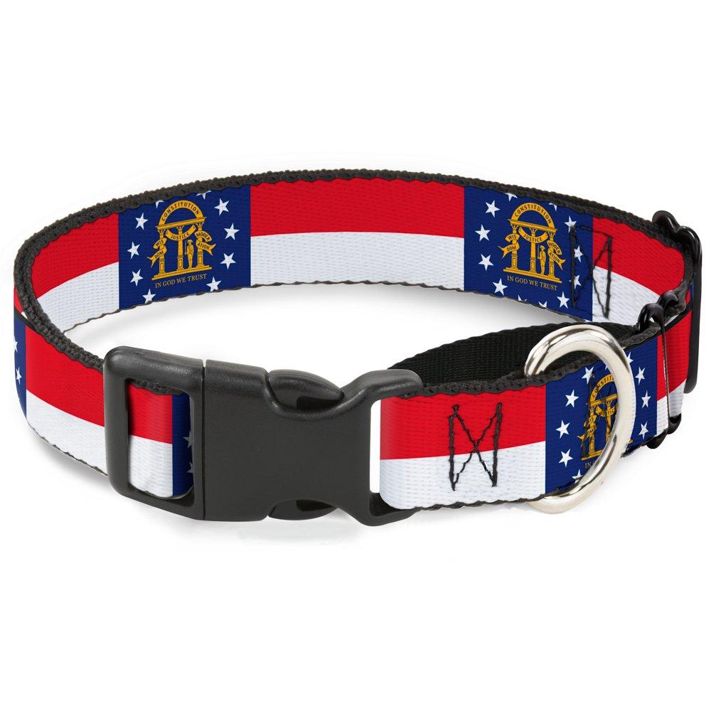 Buckle-Down Georgia Flag Martingale Dog Collar, 1.5  Wide-Fits 16-23  Neck-Medium