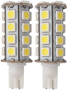 GRV T10 Wedge 921 194 C921 30-5050 SMD LED Bulb Lamp Super Bright Warm White Dc 12v Pack of 2