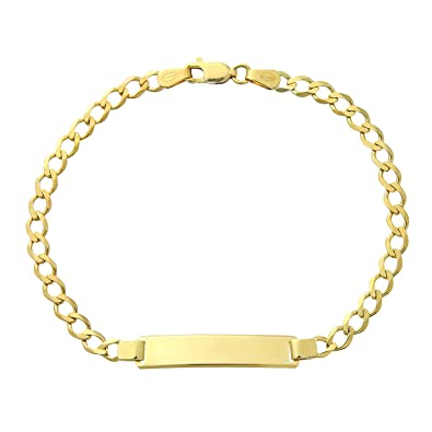 Citerna 9 ct Yellow Gold Curb ID Bracelet of 7.5 Inch/19 cm Length and 0.6 cm Width GLE4YZBA9