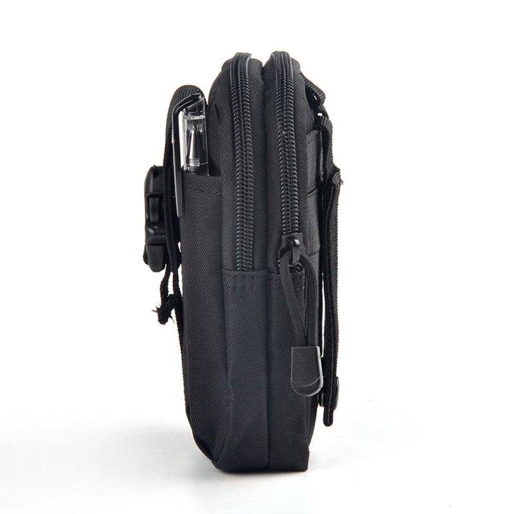 Molle militar Bolsa de cintura impermeable de la cintura Paquete de múltiples funciones del teléfono de de la cintura del paquete de Fanny móvil duradera ...