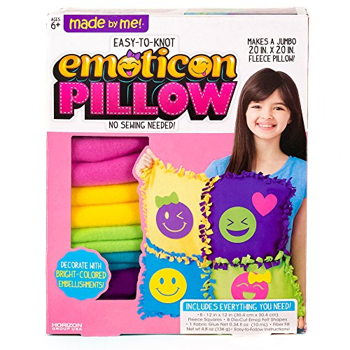 Made By Me Make Your Own Jumbo Emoticon Pillow by Horizon Group USA, Multicolored, Pillow 20
