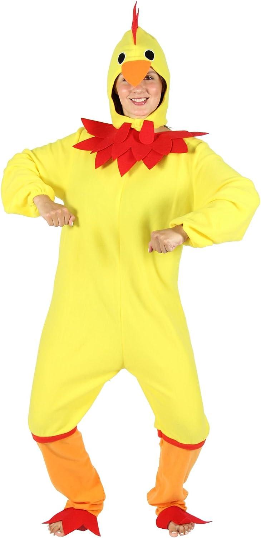 FOXXEO Disfraz de Pollo Amarillo para Damas - Talla: S a XXL ...