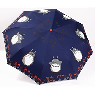 Finex­­ Fully Auto Open/Close Umbrella Totoro - Windproof - UltraSlim, Compact For Easy Carrying (Navy Blue)