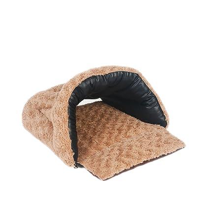 JiuErDP Saco de Dormir para Gatos Cuatro Estaciones Mascota Universal Oso de Peluche Perrera Perrito pequeño