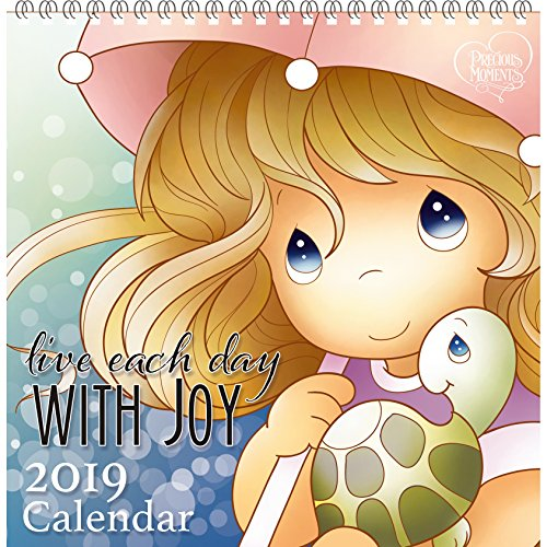 """Precious Moments"""" Live Each Day with Joy 12 Month 2019 Illustrated Wall Calendar, Multicolor"""