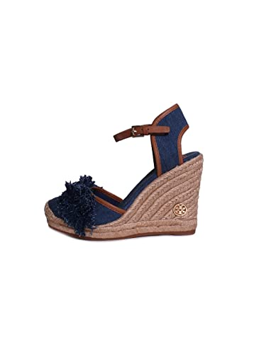 454b9d25adf Amazon.com   Tory Burch Shaw 90mm Espadrille Wedge Sandals - Size 8 ...