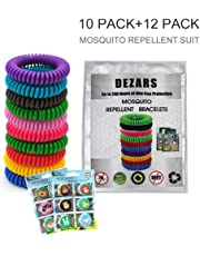 22 Pack Repellent Bracelet - 100% Natural Plant-Based Oil, DEET Free & Non-Toxic Repellent Wristbands for Kids, Adults & Pets, Waterproof in Multiple Colors