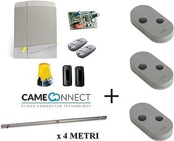 Came Connect 8K01MS-004 - Kit de motorizador, 24 V, puerta corredera, 600 kg, con cremallera de 4 metros, incluye 12 pernos: Amazon.es: Bricolaje y herramientas