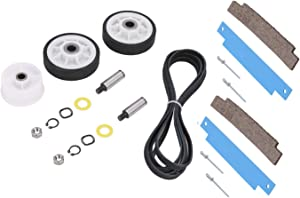 12001541 Dryer Drum Roller Kit, 306508 Drum Bearing Kit, WP6-3700340 Dryer Idler Pulley & WP33002535 Drum Belt Replacement for Maytag Crosley Dryer. Replace Parts 303373, 306508VP, 33001783, 33002535