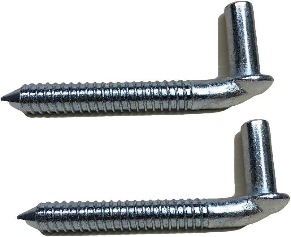 Pair 3//4 Chain Link Lag screw Gate Hinge Side Wood Post Bolt Hinge Galvanized