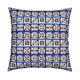 Roostery Bingo Organic Sateen Throw Pillow Cover Bingo Cards 6On by Dd BAZ Cover Only