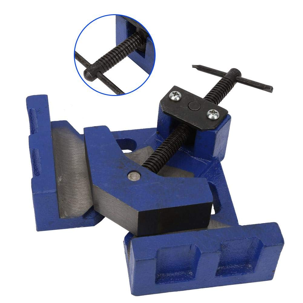 Corner Clamp, 4'' 90 Degree Jaws Right Angle Clamp Heavy Duty Welding Fixture for Wood Metal Work