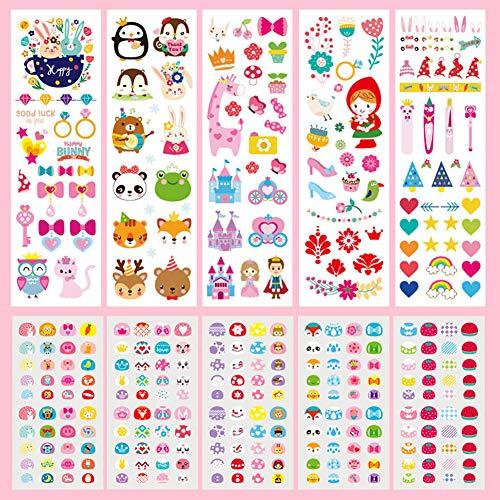 Gemini_mall Girls Boys Temporary Tattoos Nail Art Sticker Set Kids Children's Birthday Party Bag Filler Party Favors…