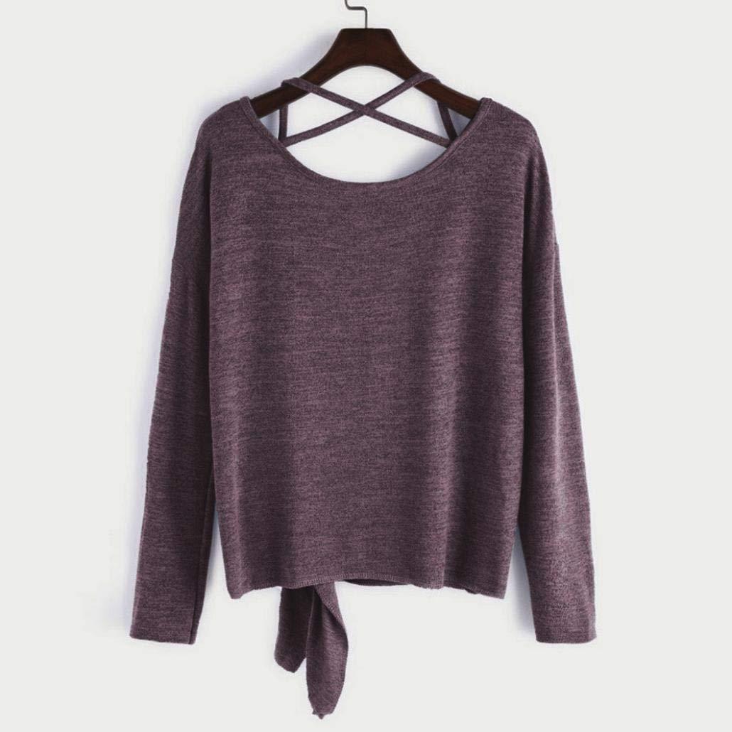 Amazon.com: UONQD - Blusa de manga larga para mujer, con ...