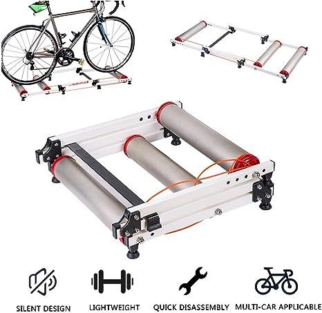 LUCKFY Cubierta retráctil de Bicicletas Rodillos - Bici Soporte Trainer - Ajustable Cubierta del Rodillo de Fitness Entrenamiento Ciclista parabólico Bike Trainer: Amazon.es: Deportes y aire libre