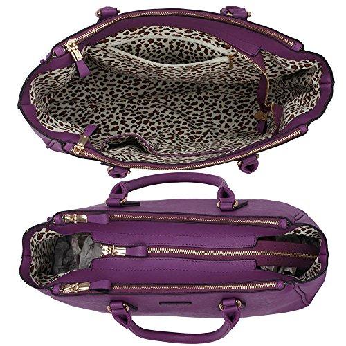 ANNA GRACE - Bolso mochila  de piel sintética para mujer Design 1 - Purple