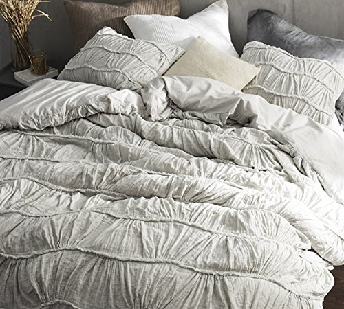 Byourbed BYB Motley Texture Queen Duvet Cover - Light Gray