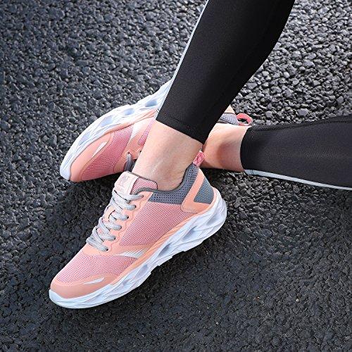 Transpirables para Deportivas Rosa Correr Zapatillas Resistentes Zapatillas y atléticas los a Mujer para Golpes Deporte Trail de Zapatos TFxw6a0n