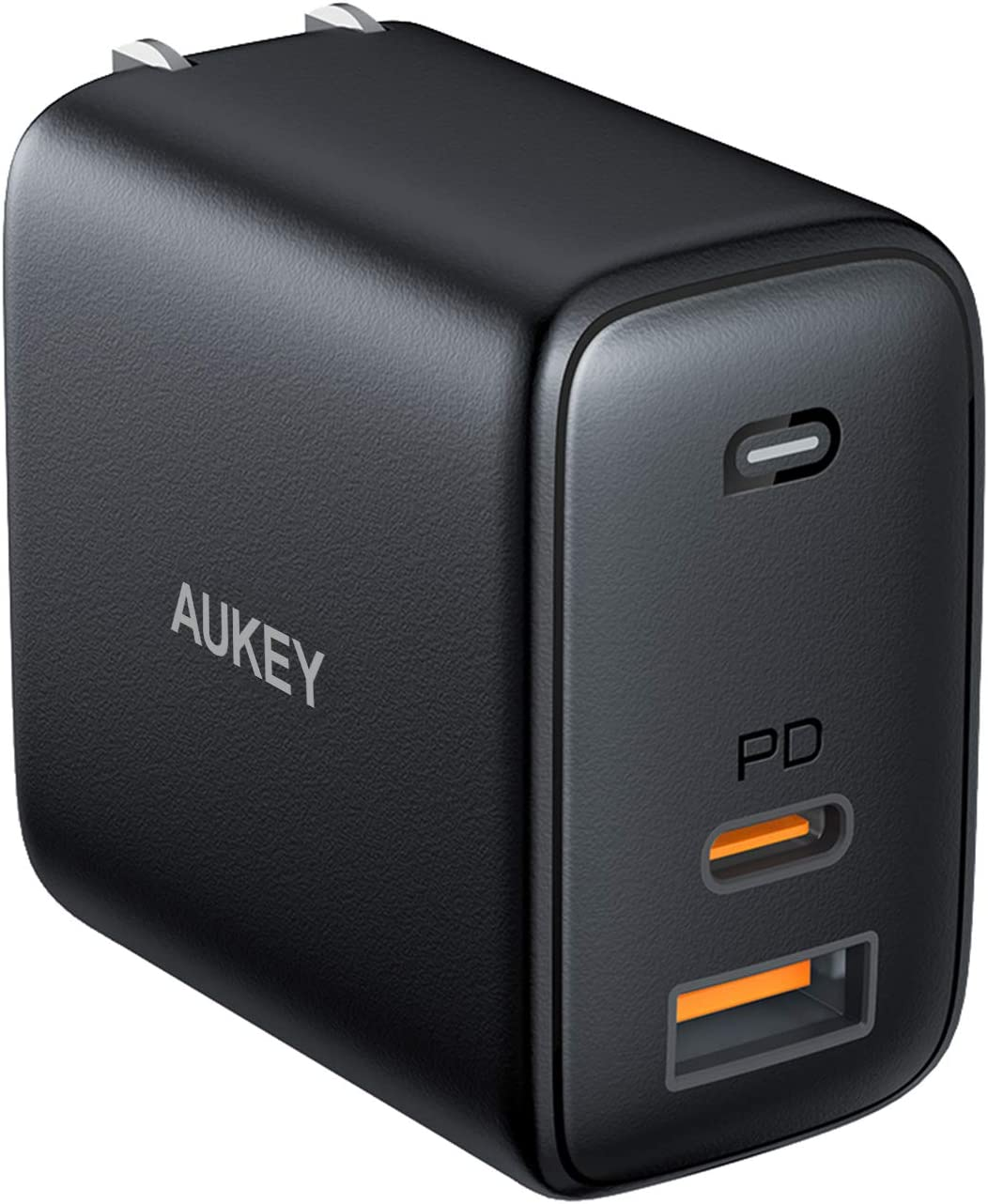 USB C Charger AUKEY Omnia 65W Fast Charger (Dual Port USB C PD 3.0 Plus USB A) with GaNFast Technology and Dynamic Detect PD Charger Wall Charger for iPhone 11 Pro Max, Google Pixel 3 XL, LG, Samsung