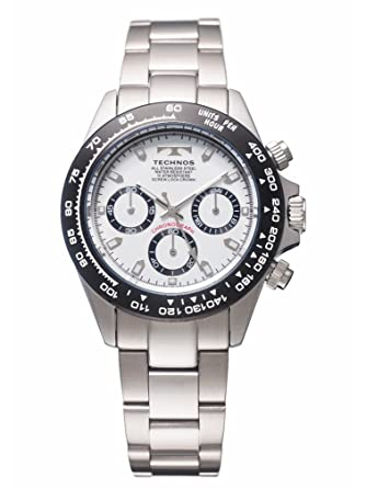 メンズ 【テクノス】 クロノグラフ TSM411TW TECHNOS 腕時計