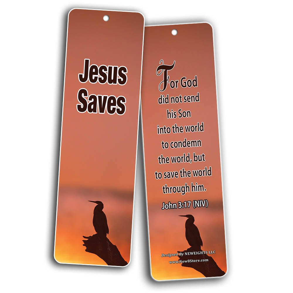 Popular Bible Verses About God's Love Bookmarks Cards (60-Pack) - Assorted Bulk Pack - John 3:16 Psalm 46:1 - Gift Ideas for Sunday School, Youth Group, Church Camp, Bible Study, Baptism, Homeschool by NewEights (Image #6)