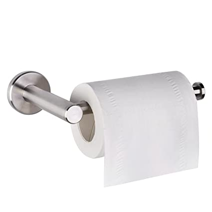 HOMEIDEAS Toilet Paper Holder SUS304 Stainless Steel Bathroom Tissue Paper  Holder Wall Mount, Brushed Finish