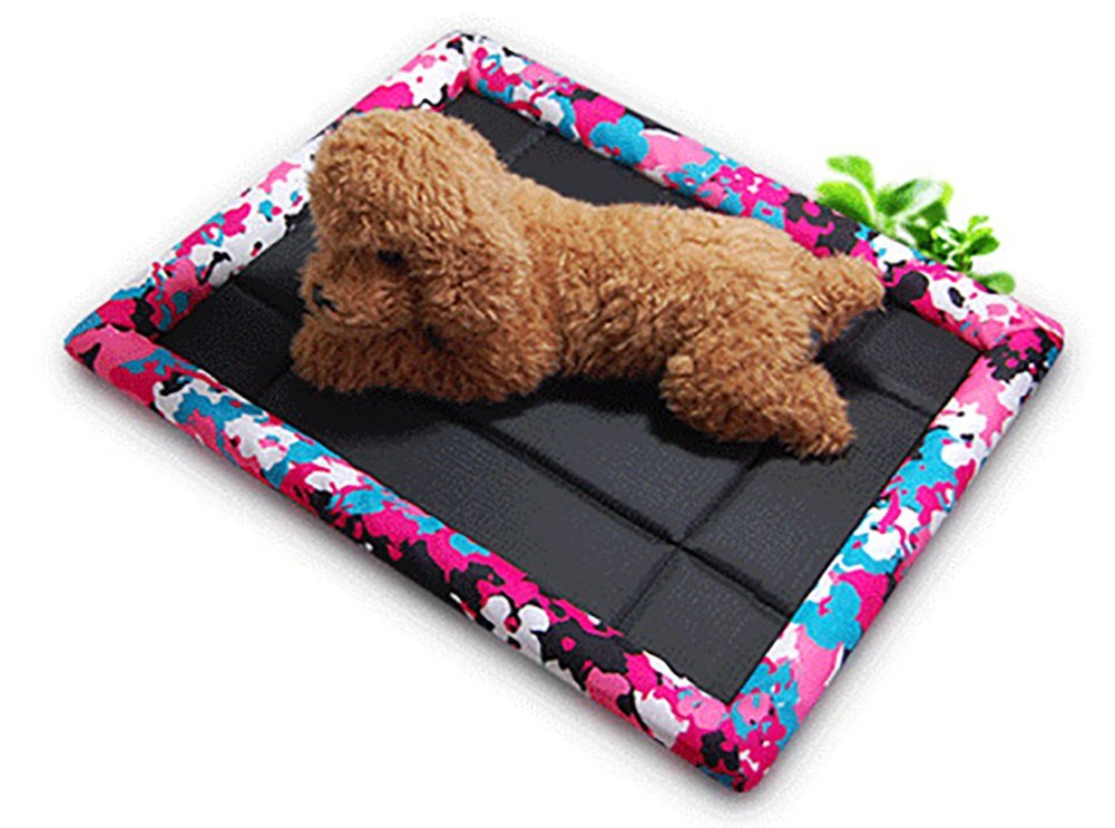 BMDHA Summer Dog Bed Resistance To Bite Non-Stick Hair Sleeping Pad Kennel Cat Mat For Cats And Small Dogs 69×84Cm