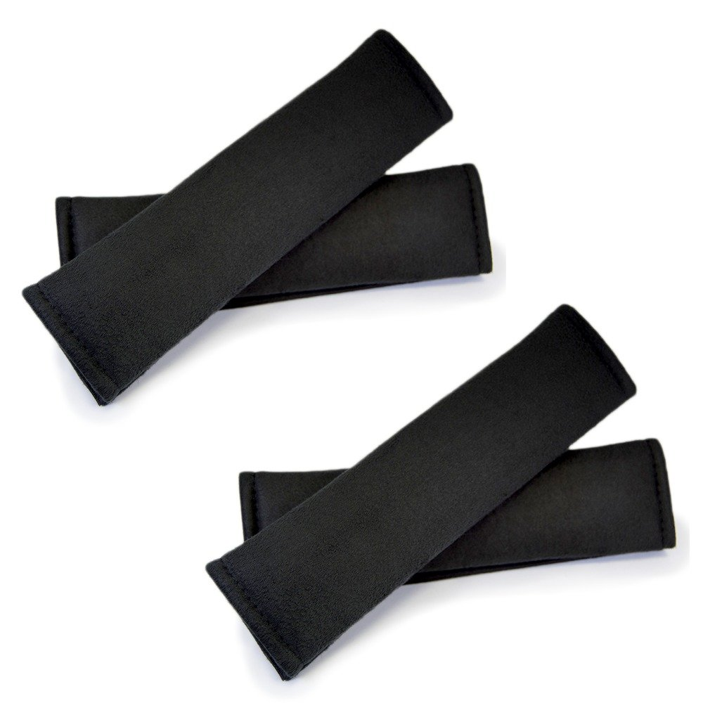 Seat Belt Microfiber Foam Cover (4-pack) - Cushioned for your driving comfort by Seat Belt Extender Pros HY Auto Parts Co. Ltd.