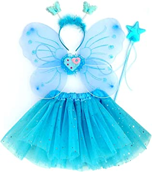 EQLEF Alas Hada Disfraz, Tutu and Wings Diadema Set Butterfly ...