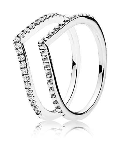 Pandora Damen Ring Set Silber 56 17 8 08348 56 Amazon De Schmuck