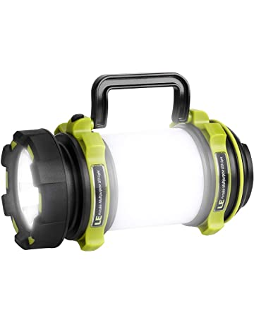 LE Lámpara de camping LED USB Recargable, 500lm 7700Lux Regulable, con Luces Laterales Blanca