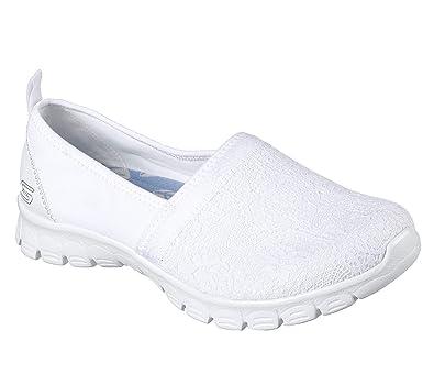 Skechers 23422/WHT EZ Flex 3.0-Duches Damen Sneaker Slipper Weiß, Größe:39, Farbe:Weiß