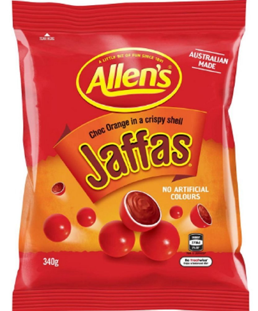 Allen's Jaffas, Family Size, 340g