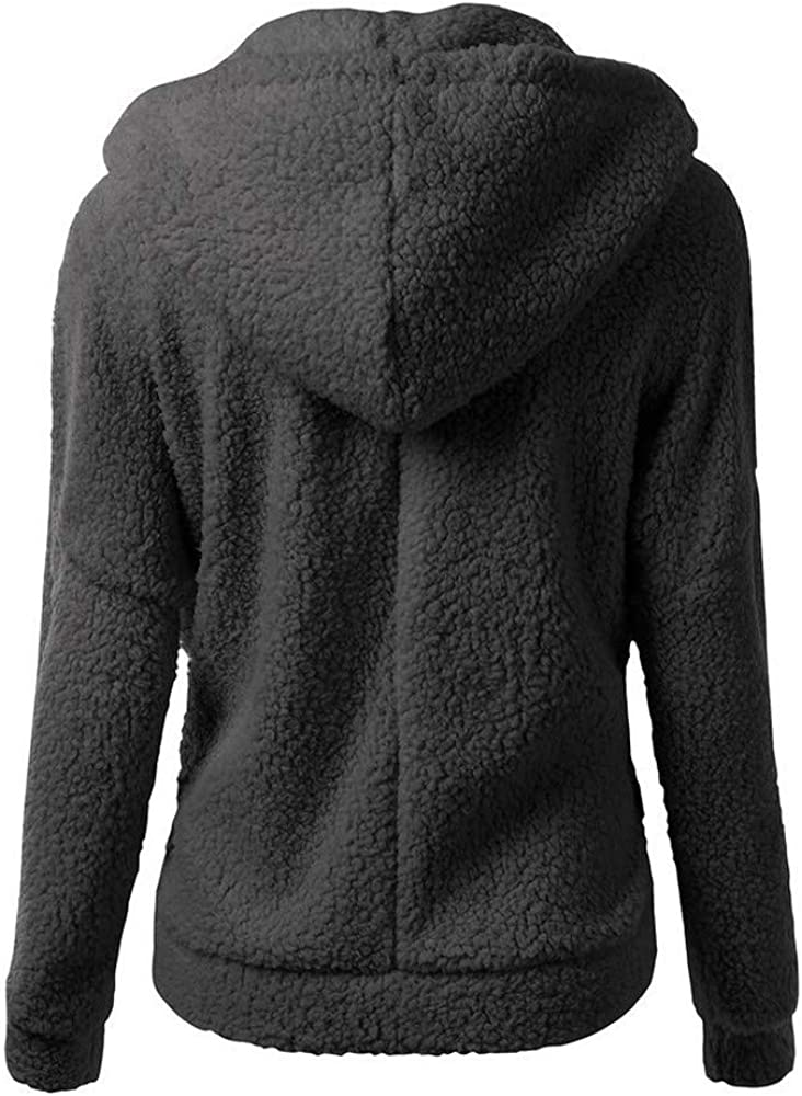 Outwear for Women,Fashion Hooded Sweater Coat Winter Warm Wool Zipper Coats Fleece Outerwear Overwear