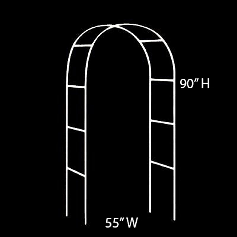 Blanco 2,4 M Metal Arco jard/ín cenador Planta Rosa Escalada Arco decoraci/ón Fiesta de Boda