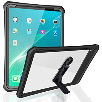 finest selection 8ffd9 d6004 ShellBox Waterproof Cases for iPad Pro 11 Inch 2018, IP68 360 Degree Slim  Dual Layer Armor Defender Shockproof Protective Case with Kickstand Lanyard  ...