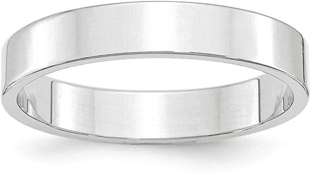 10k White Gold 4mm Wedding Band Ring Fine Jewelry Ideal Gifts For Women