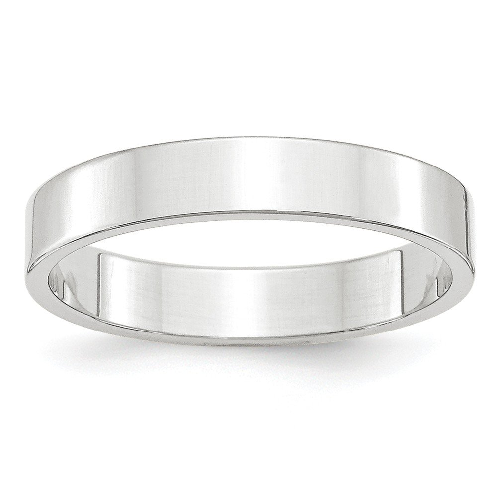 10K Yellow Gold Wedding Band Ring Standard Flat Solid Polished 4 mm 4mm Flat B