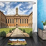 vanfan Bathroom 2?Suits 1 Shower Curtains & 1 Floor Mats Oxford University The Queen s College 299633474 from Bath Room