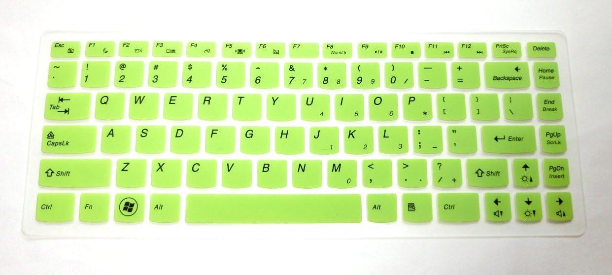 Semi-Green Keyboard Protector Skin Cover for Lenovo IdeaPad Y480 Y480p Y470 Y410p Y400 Y40 Z410 Z480 Z485 Z480 Z470 Z465 Z460A Z460 Z380A Z370 Z360 Z40 G485 G480 G475 G470 G40 Flex 14 Flex 2 14 inch